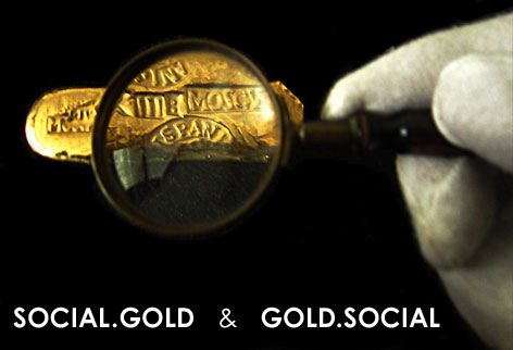 SOCIAL.GOLD  and  GOLD.SOCIAL  Logo